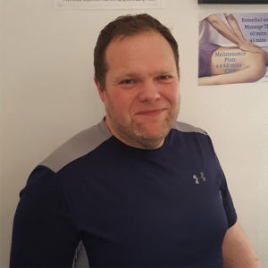 Stuart - the remedial massage and sports therapist in the team